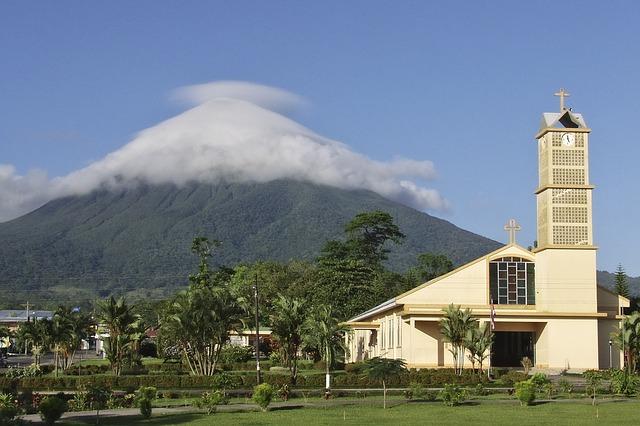 Поселок La Fortuna в Коста-Рике