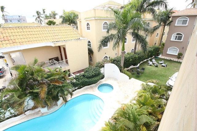 Открытый бассейн в отеле Residencial Las Buganvillas Bavaro