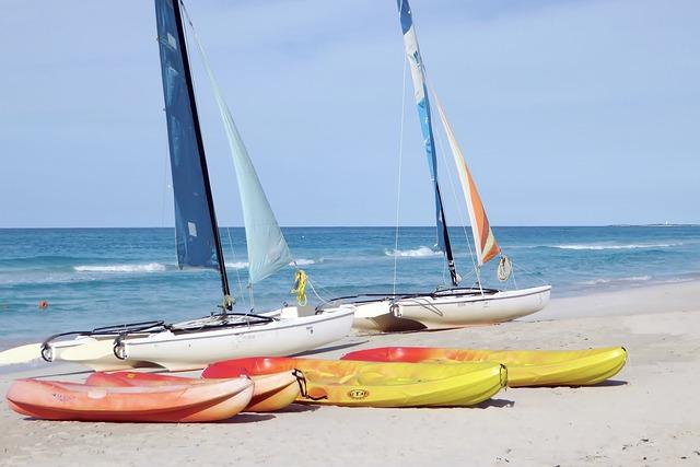 Прокат снаряжения на пляже в Доминикане